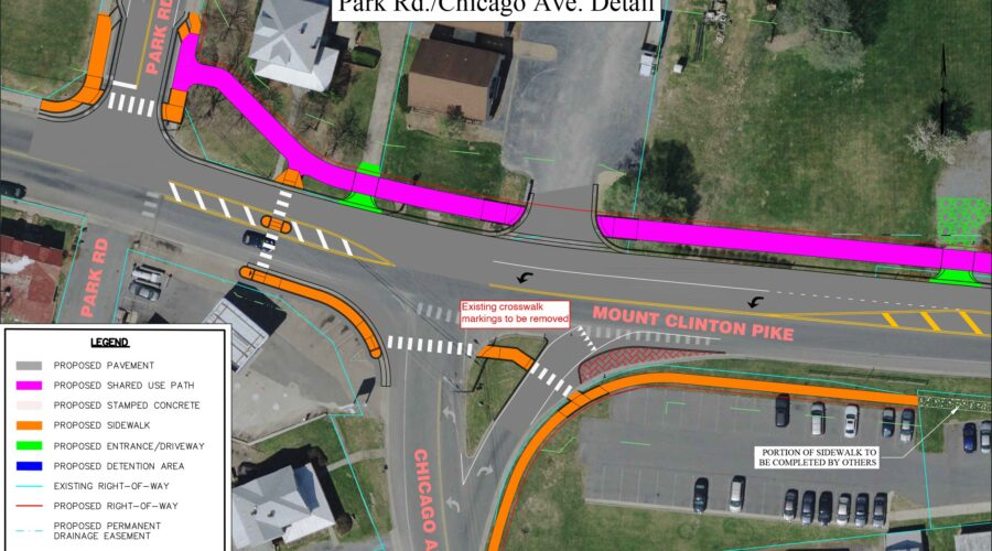 Make comments on Mt. Clinton Pike improvements